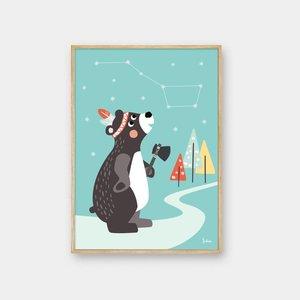 Kipkep Julica Glow in the dark poster Great Bear