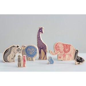 Mini Empire Mini Empire Wooden animals Africa 18 x 28 cm