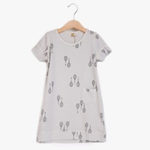 Lotiekids Jersey Dress Katoen RACKETS Cool Grey Lotiekids