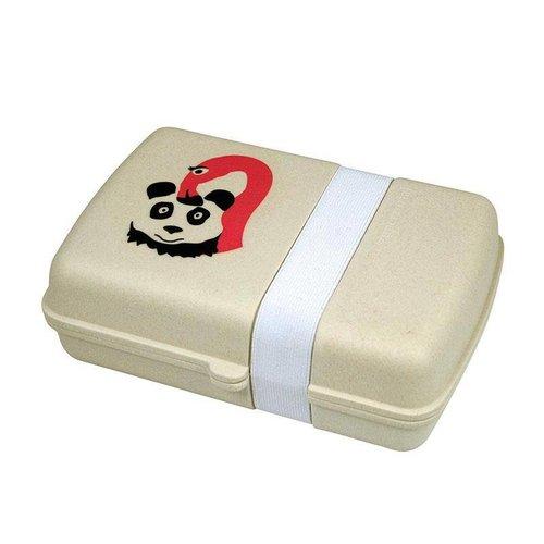 Lunchbox Flamingo en panda ,  Biologisch bamboe en mais