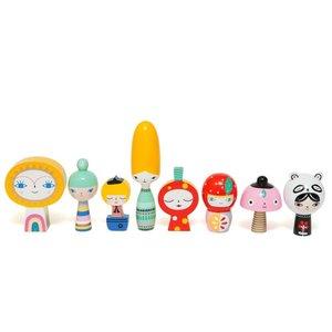 Mr Sun & friends wooden dolls