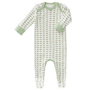 Fresk Fresk pyjama met voetjes Leaves Mint