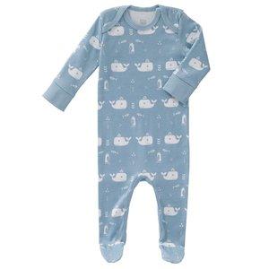 Fresk Fresk pyjama met voetjes Whale Blue fog