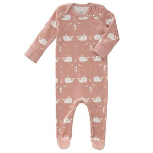 Fresk Fresk pyjama met voetjes Whale Pink