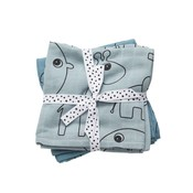 Done by Deer Done by Deer Burp cloth 2-pack Contour