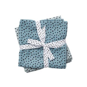 Done by Deer Done by Deer Burp cloth 2-pack Happy Dots