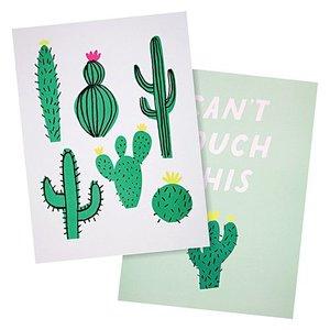 Meri Meri Cactus Art Print Poster 2 stuks