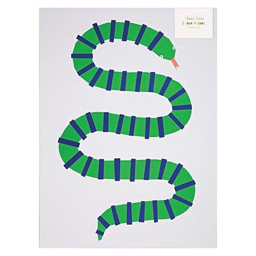 Meri Meri Jungle Art Print Poster 2 stuks