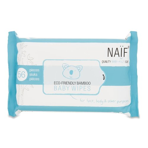 Naif Naif Eco Friendly Bamboo Baby Wipes single pack 1 stuk