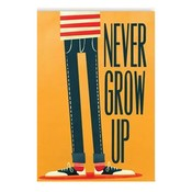 Dubbele wenskaart met envelop Never Grow up