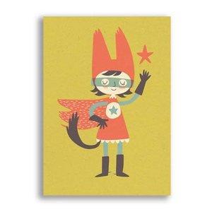 Ansichtkaart Super Girl