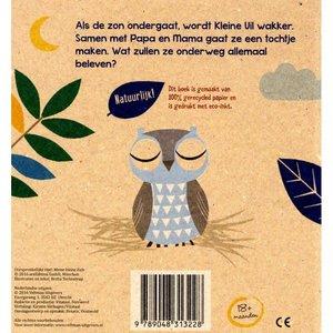 Veltman Mijn Kleine uil. Britta Teckentrup 100% gerecycled papier en gedrukt met eco-inkt