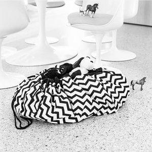 Play & Go Speelkleed Zwart/wit zigzag streep