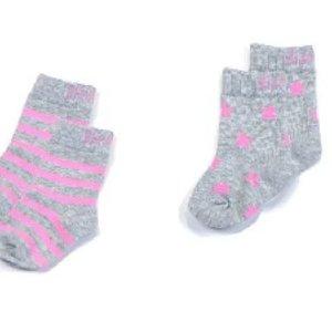 Blade & Rose sokjes Marl grey&pink