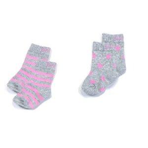 Blade & Rose Blade & Rose sokjes Marl grey&pink