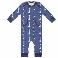 Fresk Fresk pyjama zonder voetjes Giraf Indigo Blue