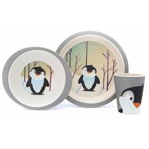 Yuunaa - Pure kids Bamboe Pinguin kinderservies