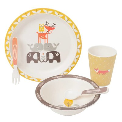 Fresk Fresk Dinner set bamboo Forest Animals