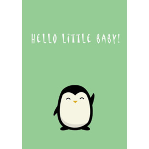 Gnoom Dubbele kaart Hello little baby!/ Welcome to the world!