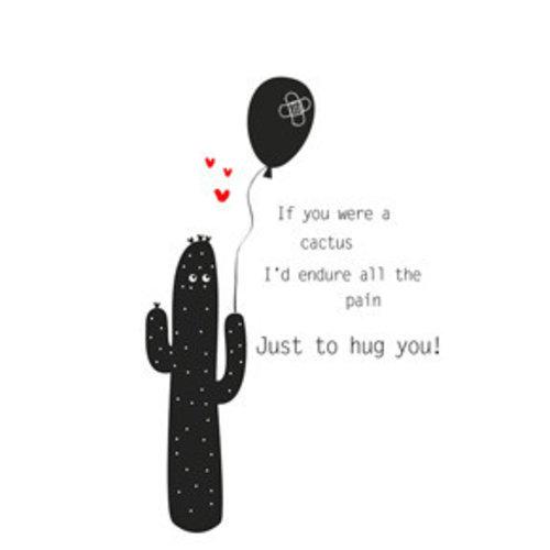 Gnoom Kaart met envelop Cactus
