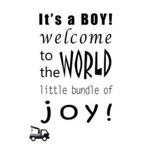 Gnoom Kaart met envelop Its a boy!