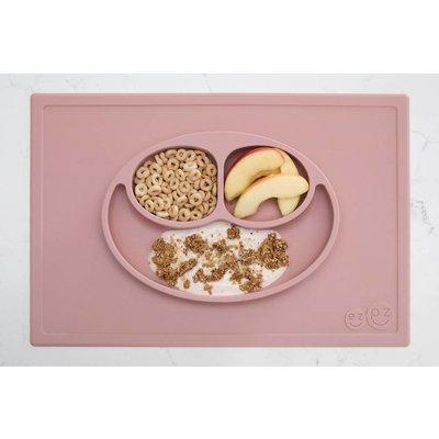 EZPZ EZPZ Happy mat Placemat & plate in one Blush/ Roze
