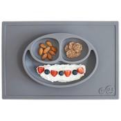 EZPZ EZPZ Happy mat Placemat & plate in one Grey/ Donkergrijs