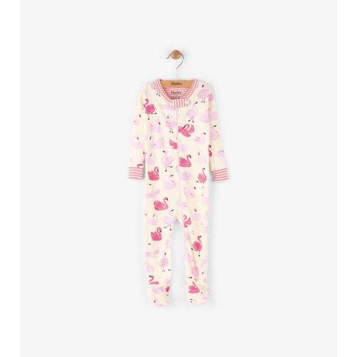Hatley Dancing Swans Pyjama met voet
