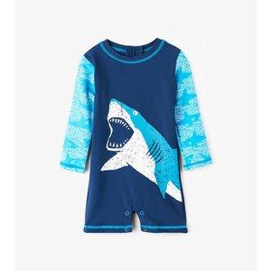 Hatley Shark Alley Mini Rashguard One-Piece - zwempak met UV bescherming 50+