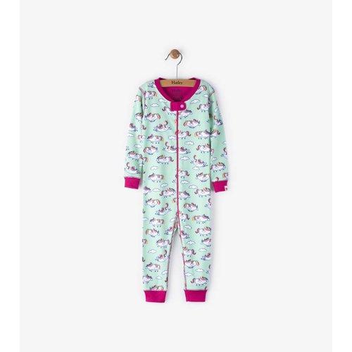 Hatley Hatley Roly Poly Unicorns Pyjama zonder voet