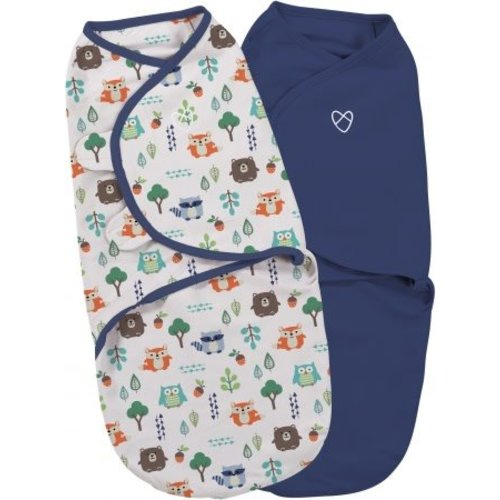 SwaddleMe 2-pack Into the woods small (0-3 maanden)