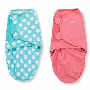SwaddleMe 2-pack Roze & mintblauw