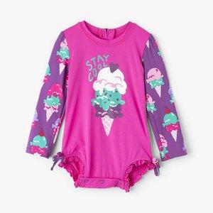 Hatley Ice cream treats Mini Rashguard Swimsuit - badpak met UV bescherming 50+