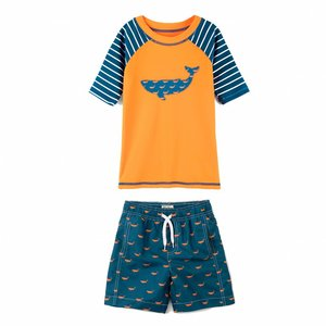 Hatley Tiny whales Mini Rashguard set shorts & shirt 2 - 3 jaar