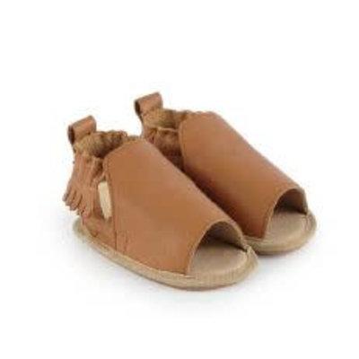 Boumy Boumy leren zomer slofjes open teen Noa Cognac Leather