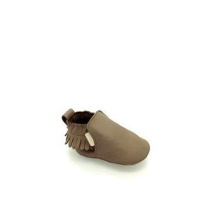 Boumy Boumy leren slofjes Bao Dark Brown Leather