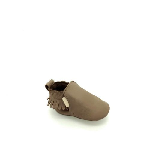 Boumy Boumy leren slofjes Bao Dark Brown Leather