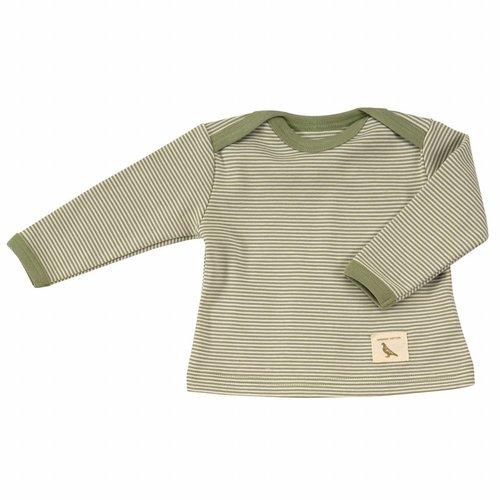 Pigeon Pigeon Shirt Green Stripe lange mouwen