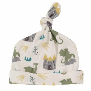 Pigeon Mutsje met knoop Dragon Green 0-6 m