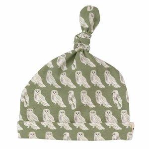 Pigeon Mutsje met knoop Owl Green 0-6 m