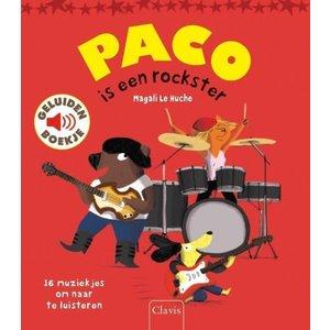 Clavis Paco is een rockster - geluidenboek. Magali Le Huche