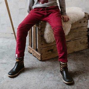 Six Hugs Sweatpants Biker Burgundy red