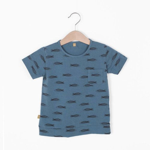 Lotiekids Lotiekids T-shirt Fishes Lake Blue