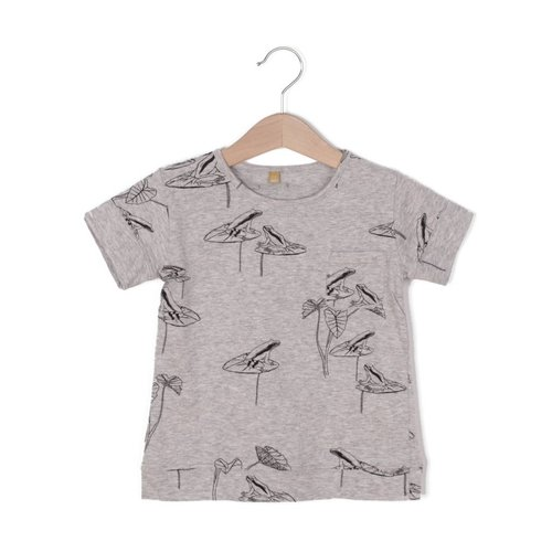 Lotiekids Lotiekids T-shirt Frogs Grey melange