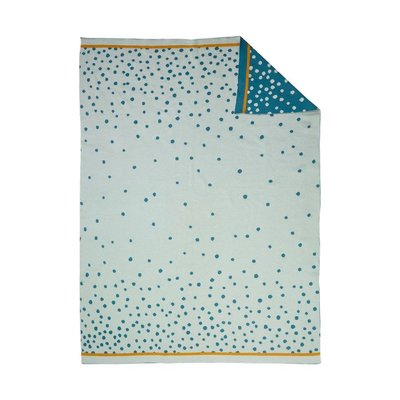 Done by Deer Done by deer babydeken happy dots blue 80x100