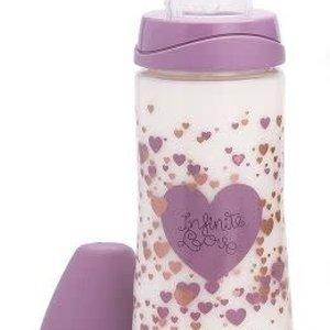 Suavinex Suavinex Haute Couture 3 fase fles 360 ml Paars hart