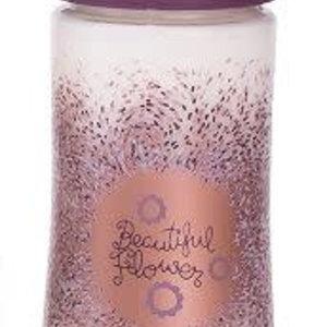 Suavinex Suavinex Haute Couture 3 fase fles 360 ml Paars bloem