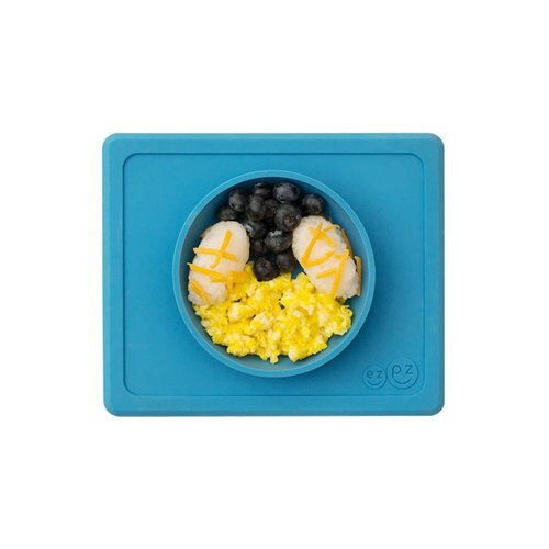 EZPZ EZPZ Mini bowl Placemat & bowl in one Blue/ blauw
