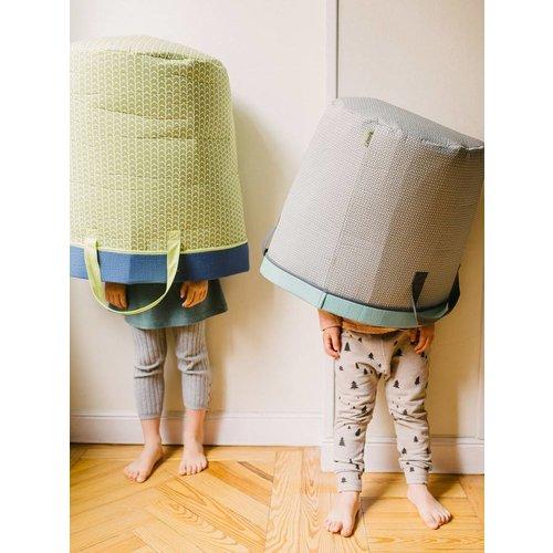 Buh! Kids opbergmand 35*40 cm Bora(groen)