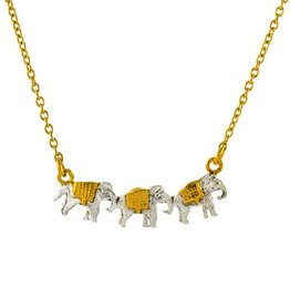Alex Monroe - Marching Elephants Necklace